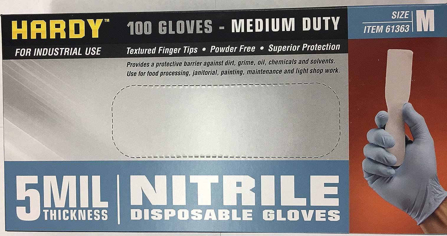 5 Mil Nitrile Powder Free Gloves 100 Pc Medium