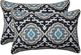 Pillow Perfect Rectangular Throw Pillow (Set of 2) Outdoor Tufted Bench Swing Cushion, 11.5 in. L X 18.5 in. W X 5 in. D, ...
