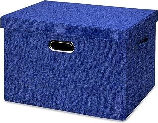 Boîte de rangement pliable MANXIA, 43 x 30,5 cm - Cubes de rangement pour étagères, bibliothèques, tiroirs en tissu épais,...