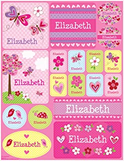 Personalized Name Labels Stickers for Kids Valentines Day Gift