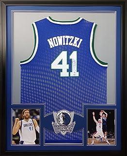3d13e823a0a4 Dirk Nowitzki Dallas Mavericks Autograph Signed Custom Framed Jersey Blue  White PSA DNA Certified