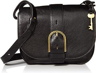 Fossil Wiley Leather 22.cms Black Gym Shoulder Bag (ZB7957001)