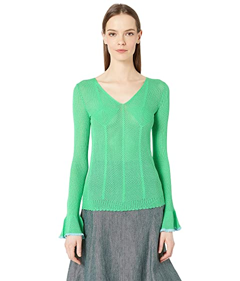See by Chloe Bell Sleeve V-Neck Sweater