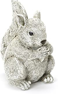 Roman Exclusive Pudgy Pal Squirrel Garden Statue 10.25-inch Made of Dolomite