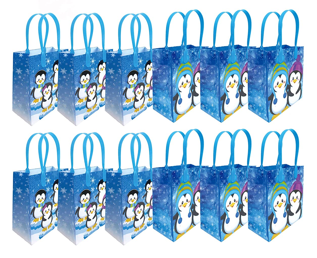 Penguin Winter Themed Party Favor Bags Treat Bags, 12 Pack wsynimjdwbzpbiky