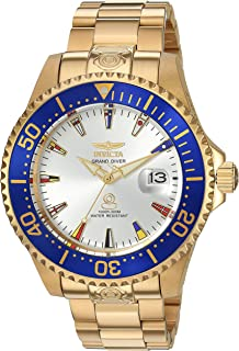 Invicta Men's Grand Pro Diver Automatic-self-Wind Watch with Stainless-Steel Strap, 22 International Watch