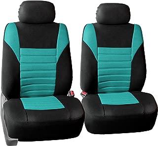 FH Group FB068MINT102 Half Mint Universal Bucket Seat Cover (Premium 3D Air mesh Design Airbag Compatible)