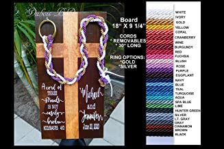 Personalized board display, Knot-tying ceremony, Ecclesiastes 4:12, Christian wedding ceremony