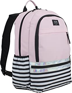 Ultimate Girls Concept Backpack, Rose Sand/Nautical Strip/Iridescent trim