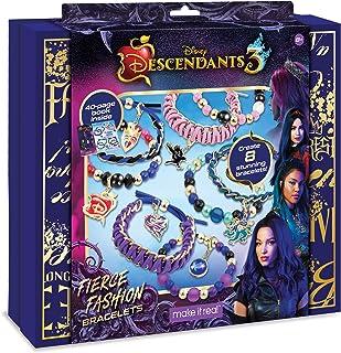 Make It Real - Disney Descendants 3 Fierce Fashion Jewelry - DIY Bead and Charm Bracelet Making Kit - Includes Jewelry Mak...