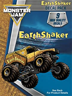 Monster Jam Earth Shaker Trucks Decal Pack for MacBook, Laptop, Vehicle - Includes 9 Stickers