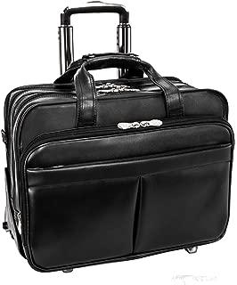 Roosevelt Leather Detachable Wheeled 17 Inch Laptop Case