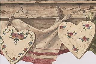 Vintage Kitchen Clothes Drying on Line Retro Wallpaper Border Farmhouse Style, Roll 15' x 8''