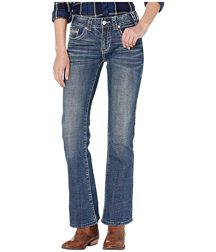 Rock and Roll Cowgirl Mid-Rise Bootcut in Dark Vintage W1-9208 (Dark Vintage) Women's Jeans