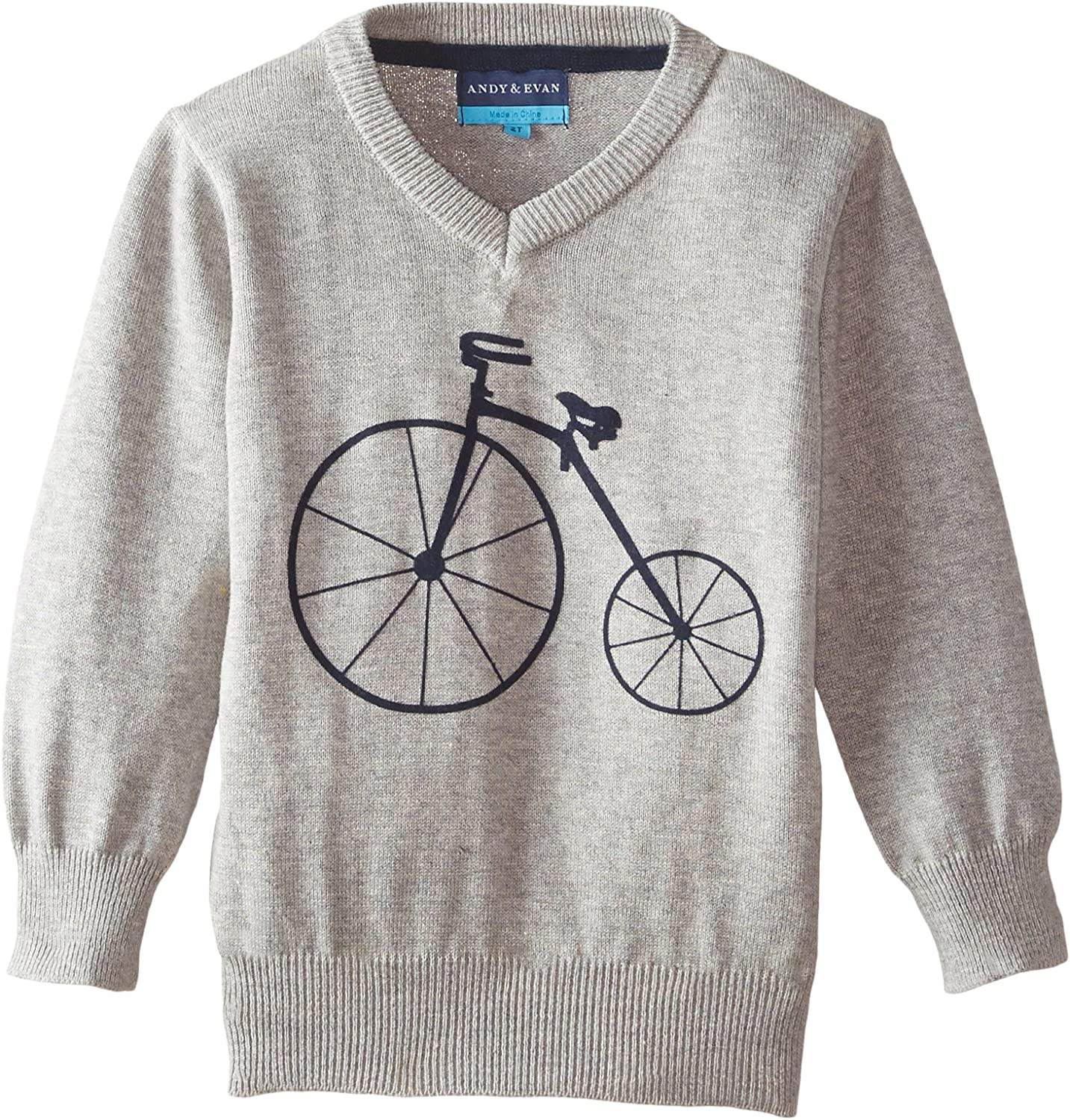 Andy Evan Little Cheap Boys' 2021 spring and summer new Sweater Bicycle Grey