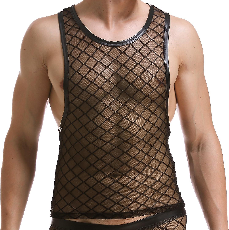 Max 75% OFF ONEFIT Men's Mesh Underwear Diamond-Shaped Surprise price Bar St Vest Night Net