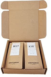 Driftaway Coffee - Coffee Subscription, Fresh Roasted Whole Bean Coffee, Eco-friendly and Sustainable (7 oz - 3 Months)