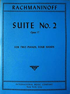 Rachmaninoff. Two Pianos. Four Hands. Suite No. 2, Opus 17. Introduction, Waltz, Romance, Tarantella