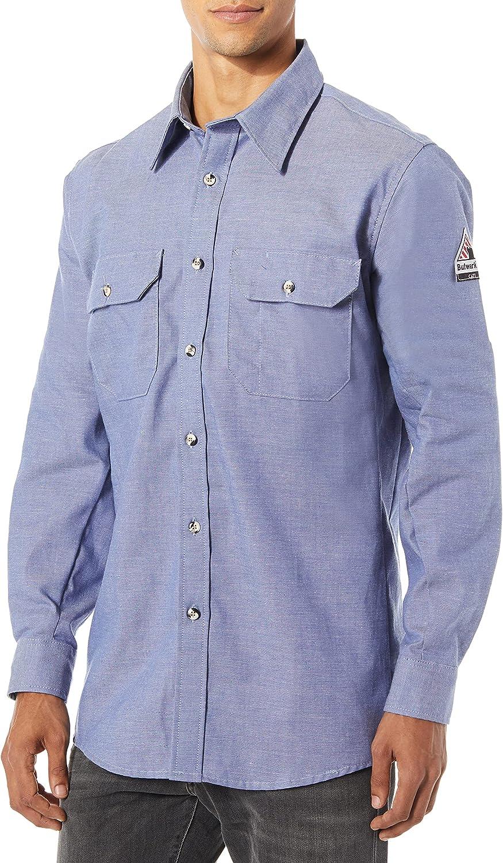 Bulwark Flame Resistant 5.5 oz Cotton/Nylon ComforTouch Uniform Shirt