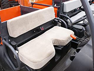 Durafit Seat Covers Kubota RTV 500 Gray Fabric Seat Covers Bench seat with Indent.