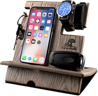 wood organizer docking station