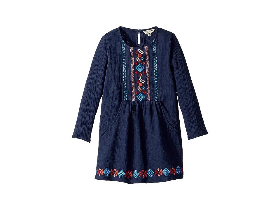 Lucky Brand Kids Marlow Dress (Little Kids) (Black Iris) Girl