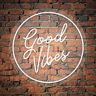 """Good Vibes"", Neon Led, luci neon, decorazione luminosa, NeonLed sign, scritte luminose"