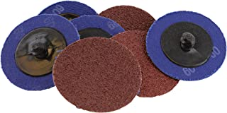 ABN Aluminum Oxide Roloc Abrasive Sanding Discs 50-Pack, 2in, 60 Grit – Metal Wheels for Surface Prep and Finishing