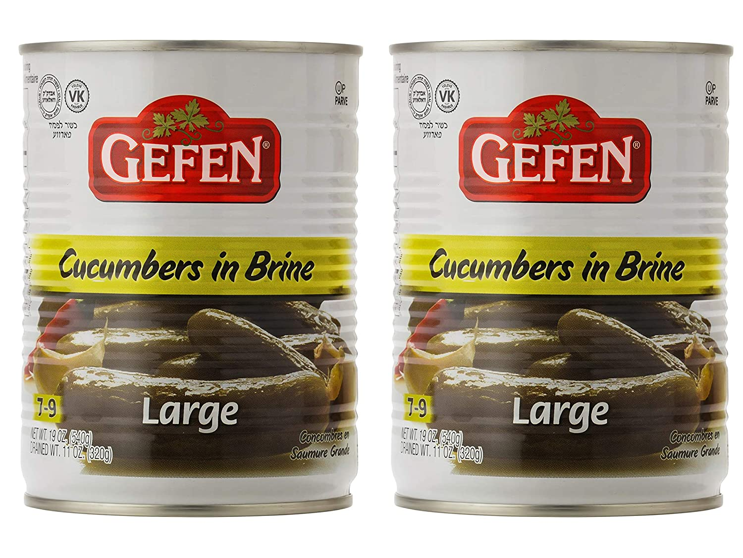 Max 80% OFF Gefen Large Pickled Cucumber in Brine 2 19oz Pack Free shipping New