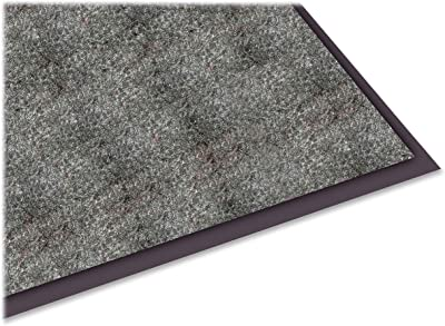 Genuine Joe Indoor Mat with Moisture Absorbent, 4 by 6-Feet, Charcoal