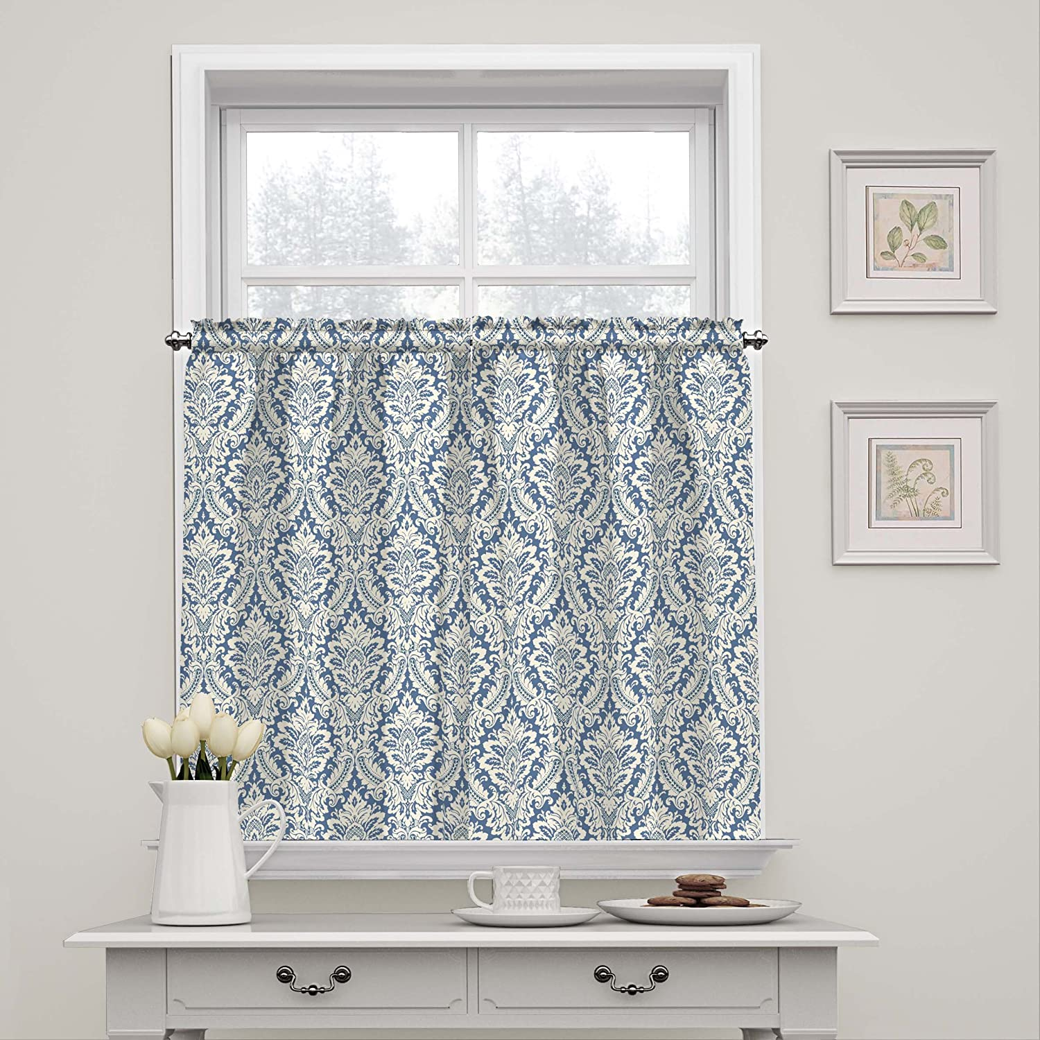 WAVERLY Donnington-Rod Pocket Curtains for Seasonal Wrap Introduction and Kitchen Bathroom New color