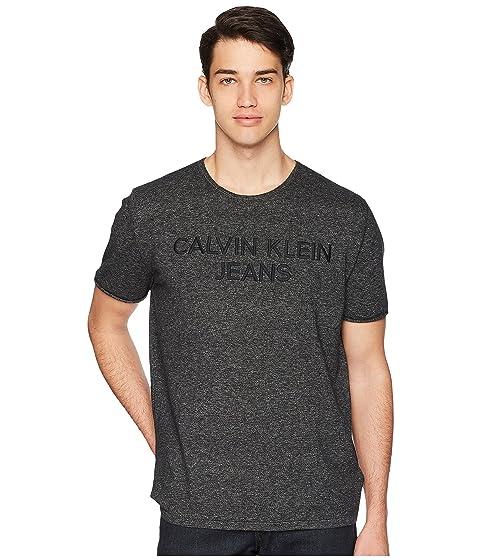 Embroidered Tee Calvin Neck Crew Klein Jeans Logo EBEOFaWvq