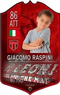 Adesivo Murale - Card Personalizzata FUT Player - Milan - Plug Calcio Soccer Cameretta Idea Regalo Squadra del Cuore Calci...