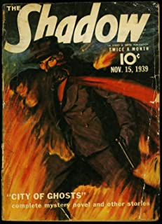 The Shadow Pulp November 15 1939- City of Ghosts- Maxwell Grant GD
