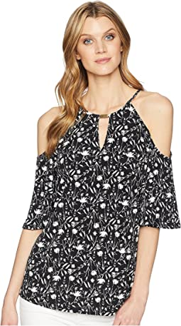 Ellen Tracy Cold Shoulder Top