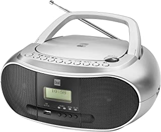 Dual DAB-P 170 Boombox with Digital Radio (CD Player (MP3), DAB+/FM Radio, AUX-in, Bluetooth, Stereo Sound) Silver