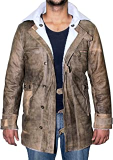 Genuine Swedish Mens Bomber Jacket - Shearling Leather Winter Jacket Coat for Men