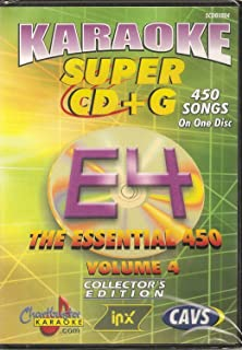 CHARTBUSTER SUPER CD+G Volume #4 - 450 CDG Karaoke Songs Playable on CAVS System or on your PC DVD player using Windows.