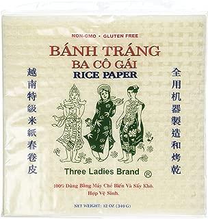 2 Packs Square Three Ladies Rice Paper Wrappers (22cm)