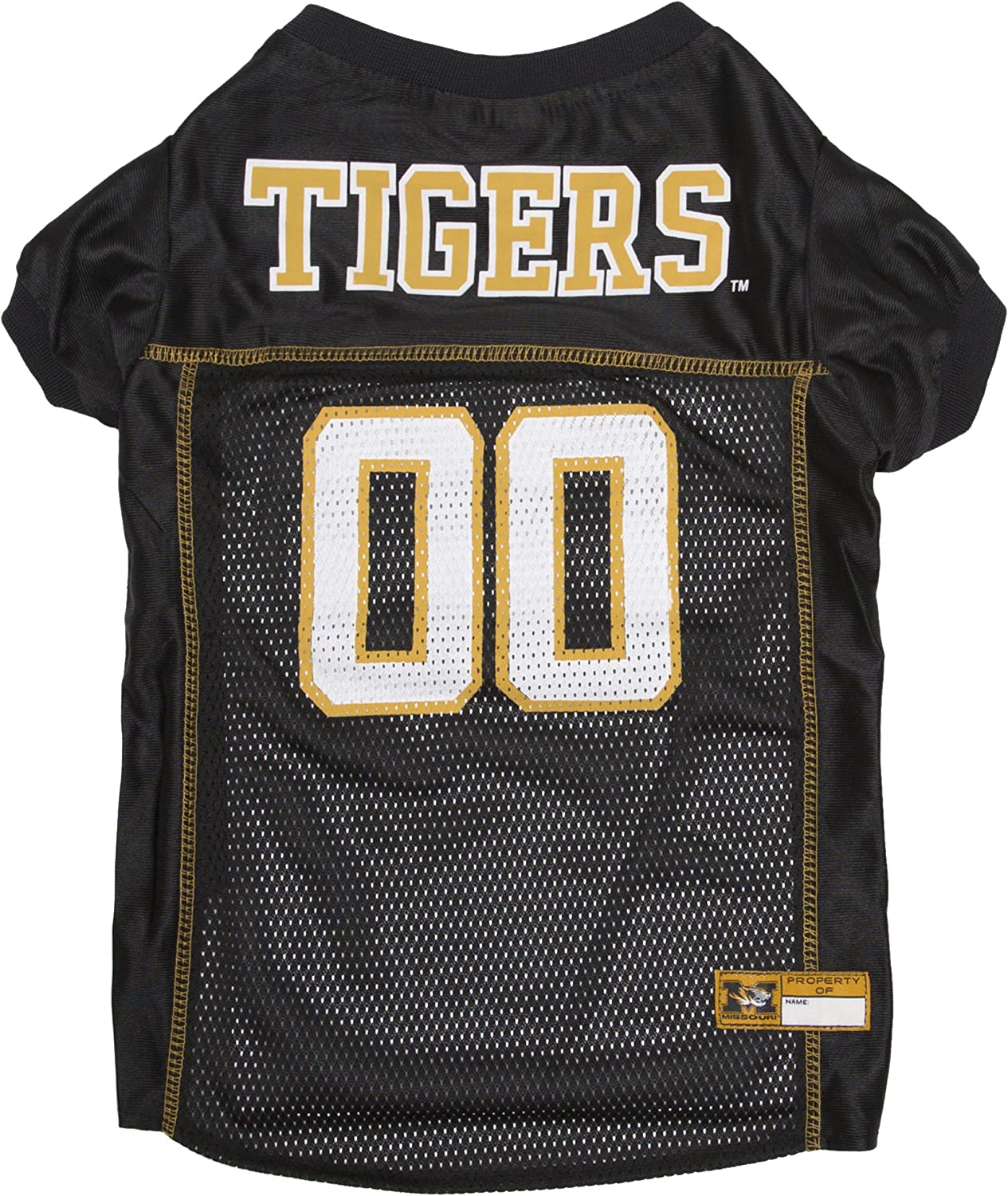 Pets First Collegiate Missouri Tigers Dog Mesh Jersey, XSmall