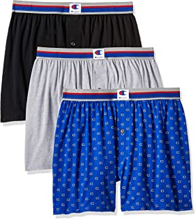 Men's Everyday Comfort Cotton Stretch Knit Boxers 3-Pack