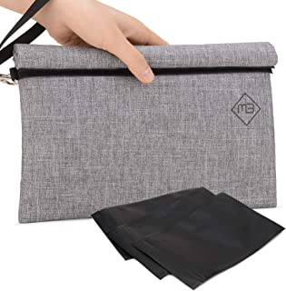 Smell Proof Bag - Quality Odor Scent Proof Carbon Lined Storage, Stash, Travel Case & Pouch - Eliminates & Traps Odor, Smell, Stink, Scent, Keep Herbs Tea & Goods Fresh, Premium Universal 2019 Version