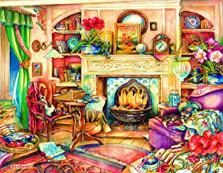 Fireside Embroidery 1000 pc Oversized Pieces Jigsaw Puzzle by SUNSOUT INC