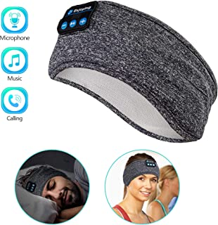Sleep Headphones Wireless, Perytong Bluetooth Sports Headband Headphones with Ultra-Thin HD Stereo Speakers Perfect for Sleeping,Workout,Jogging,Yoga,Insomnia, Air Travel, Meditation