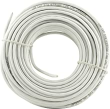 GE 6 Conductor Installation Wire, 100 ft. (30.4m), White, 6C Cat 3, Telephone or Computer Network Cable, CMX, for Residential or Small Office Wiring, 21447