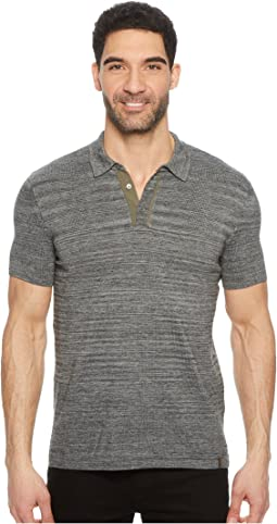 Marled Knit Polo
