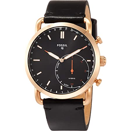 [フォッシル] 腕時計 COMMUTER HYBRID FTW1176 メンズ 正規輸入品 ブラック