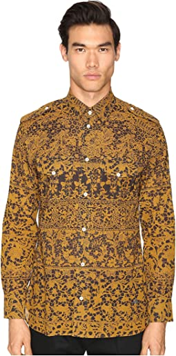 Printed Mussola Military Shirt