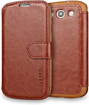 Galaxy S3 Case Wallet,Mulbess [Layered Dandy][Vintage Series][Coffee Brown] - [Ultra Slim][Wallet Case] - Leather Flip Cover with Credit Card Slot for Samsung Galaxy S3 III i9300