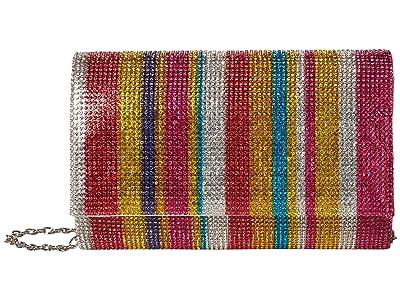 Jessica McClintock Alexis Sparkle Clutch (Rainbow) Clutch Handbags